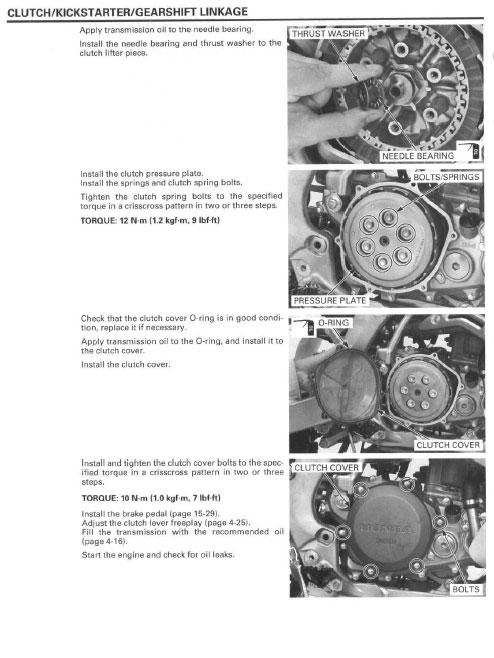 Service Manual    2007 - 2008 Honda Crf450r