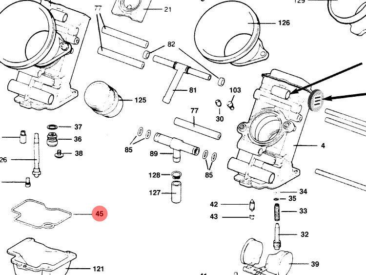 keihin carburetor fcr mx diagram