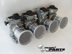 50mm. aluminum velocity stacks with wire mesh / Mikuni RS carburetor