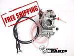 Keihin FCR MX 41 flatslide racing carburetor with choke, hotstart and TPS