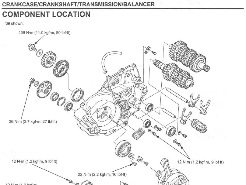 service manual    2009 - 2012 honda crf450r