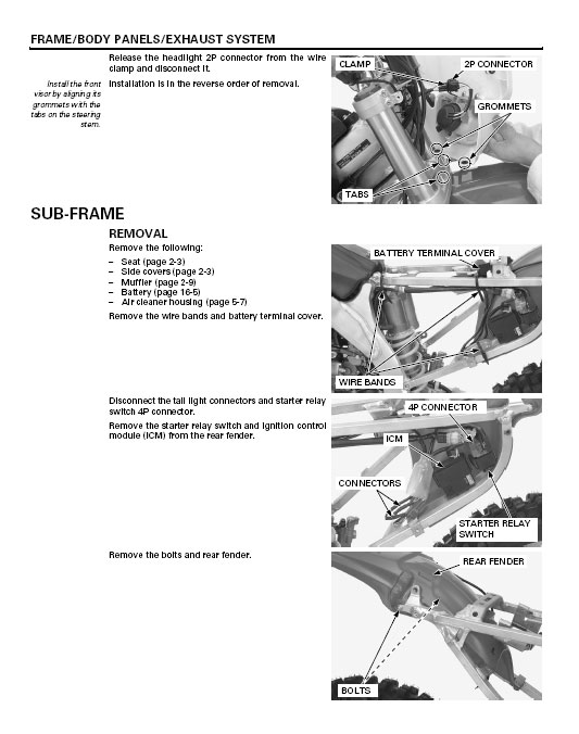 2008 honda crf150r service manual download