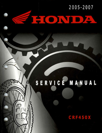 Service manual / 2005 - 2012 Honda CRF450X