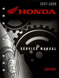 Service manual / 2007 - 2008 Honda CRF450R