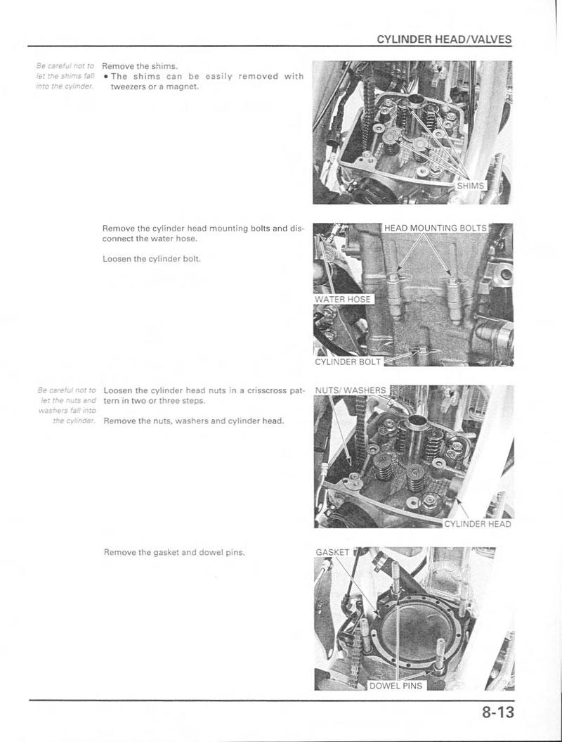 2003 Crf 450 Service manual