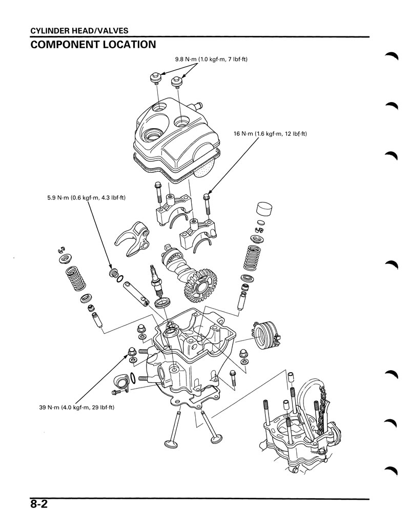 Service Manual 2004 2005 Honda Crf250r Frank Mxparts 16 Valve Engine Diagram
