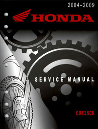 Service manual / 2004 - 2009 Honda CRF250R