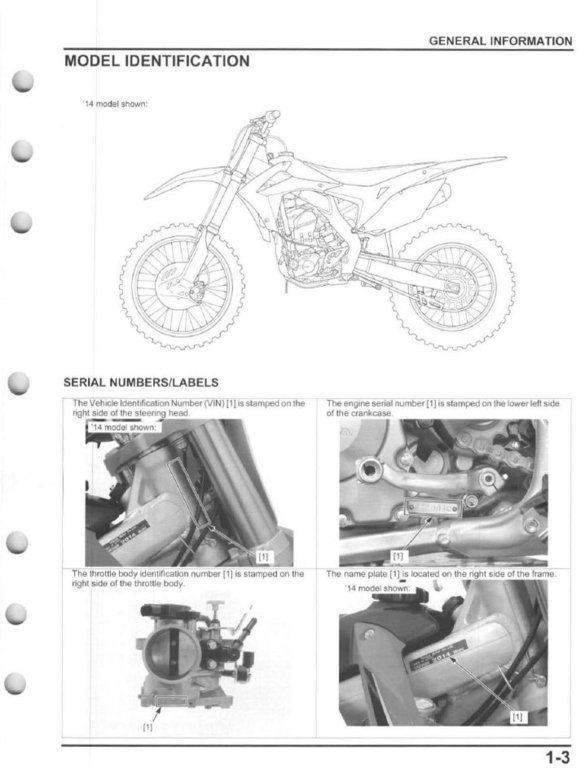 service manual 2014 2015 honda crf250r frank mxparts rh frankmxparts com 2013 Honda CRF250R 2014 honda crf250r owner's manual pdf