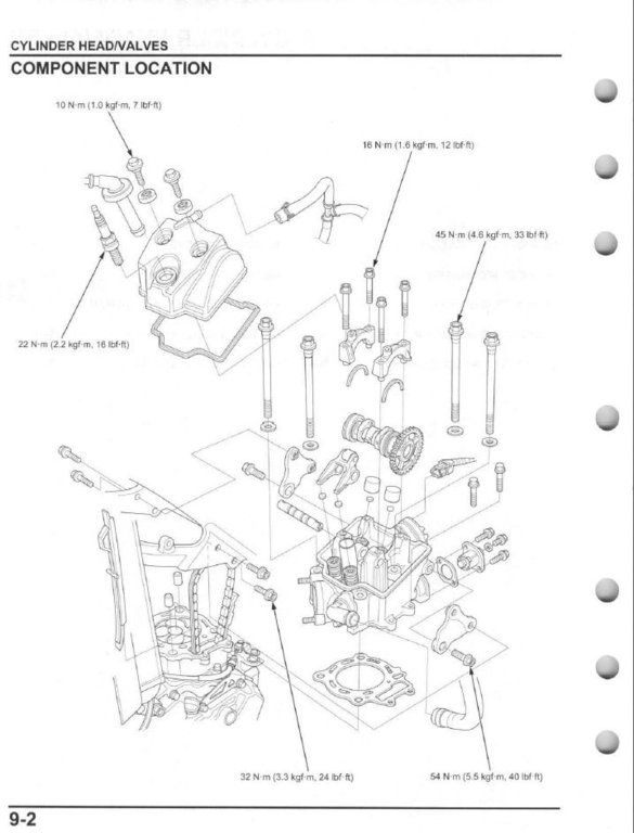 service manual    2014 - 2015 honda crf250r