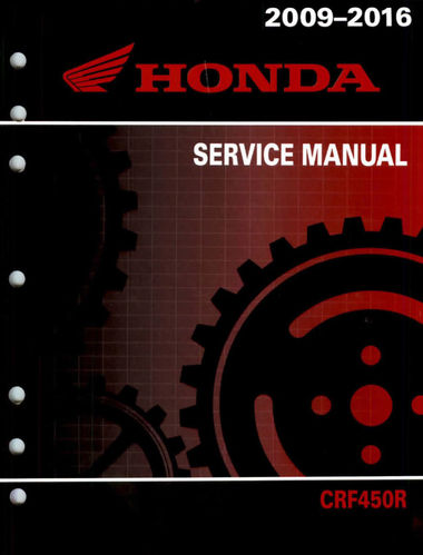 Service manual / 2009 - 2016 Honda CRF450R