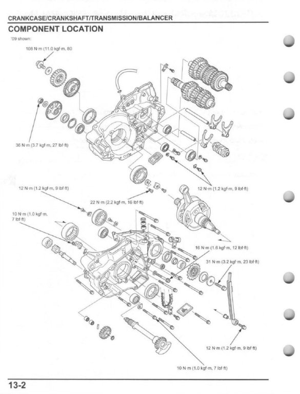 service manual    2009 - 2016 honda crf450r