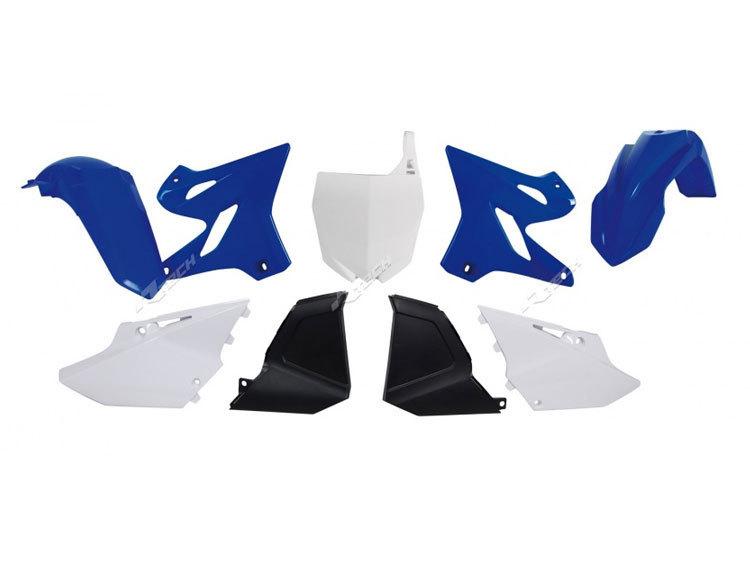 Polisport Restyled Plastics Kit Black for Yamaha YZ250 2-Stroke//YZ125 2002-2020