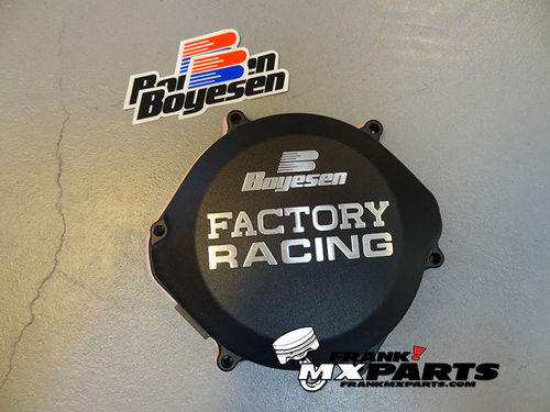 Boyesen Factory racing clutch cover black / 1987-2001 Honda CR 250 CR250R