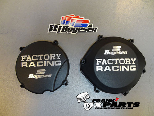 Boyesen Factory racing ignition + clutch cover black / 1987-2001 Honda CR 500 CR500R