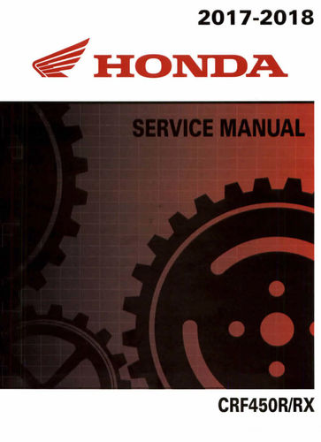 Service manual / 2017-2018 Honda CRF450R