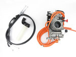 Keihin FCR MX 41 flatslide carburetor with choke, hotstart, TPS, powerblade, cables, etc.