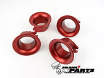 4x Velocity stack red / Keihin FCR flatslide racing carburetor
