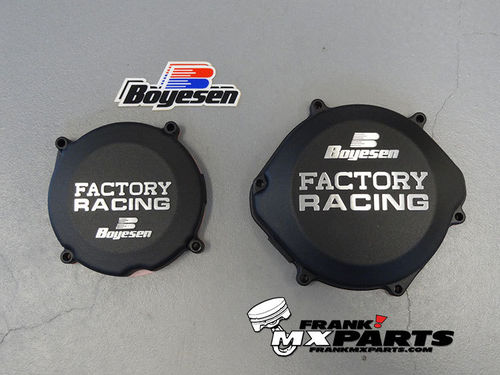 Boyesen Factory racing ignition + clutch cover black / 1987-2001 Honda CR 250 CR250R