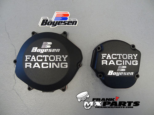 Boyesen Factory racing ignition + clutch cover black / 2002-2007 Honda CR 250 CR250R
