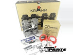 Dual horizontal Keihin FCR39 flatslide racing carburetor kit