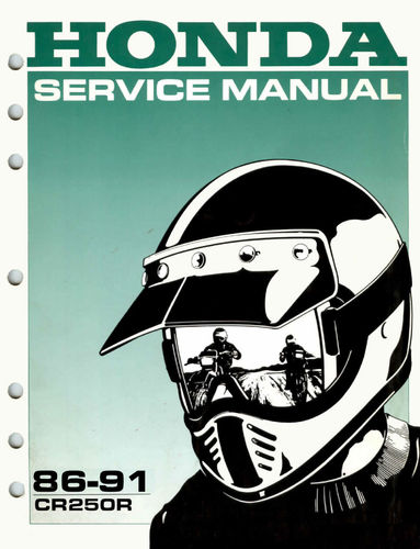Service manual / 1986-1991 Honda CR250R