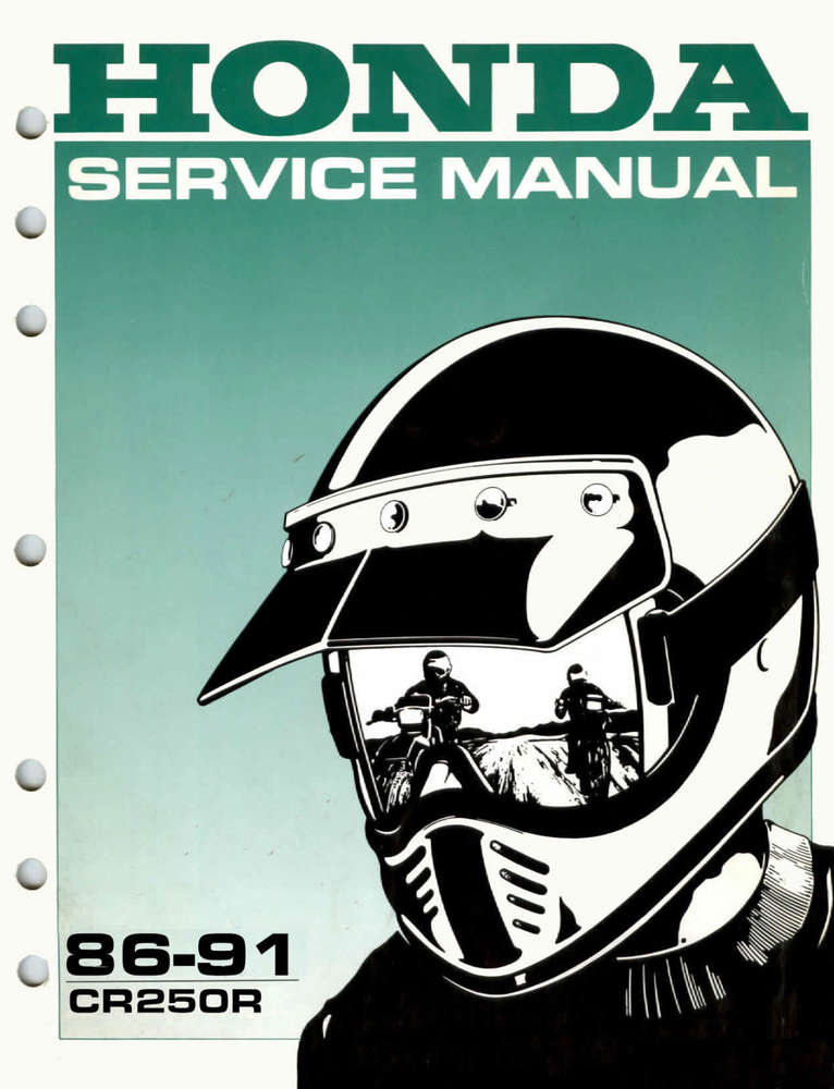 Service Manual 1986 1991 Honda Cr250r Frank Mxparts