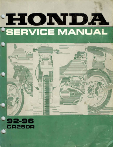 Service manual / 1992-1996 Honda CR250R