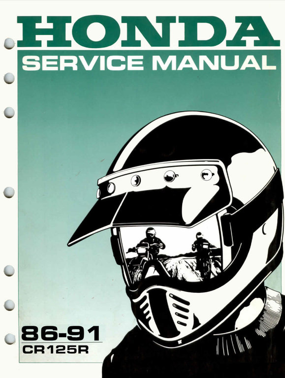 Service Manual 1986 1991 Honda Cr125r Frank Mxparts