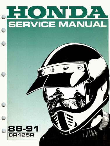 Service manual / 1986-1991 Honda CR125R