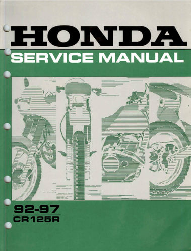 Service manual / 1992-1997 Honda CR125R