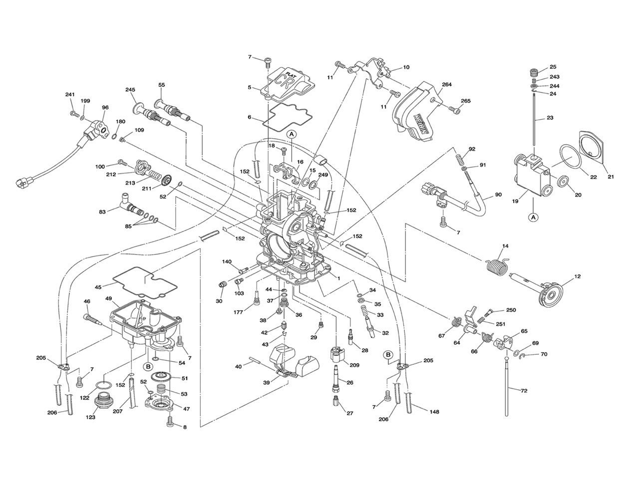 keihin fcr mx carburetor parts diagram rh frankmxparts com KTM 525 Quad ktm  525 xc carb adjustment