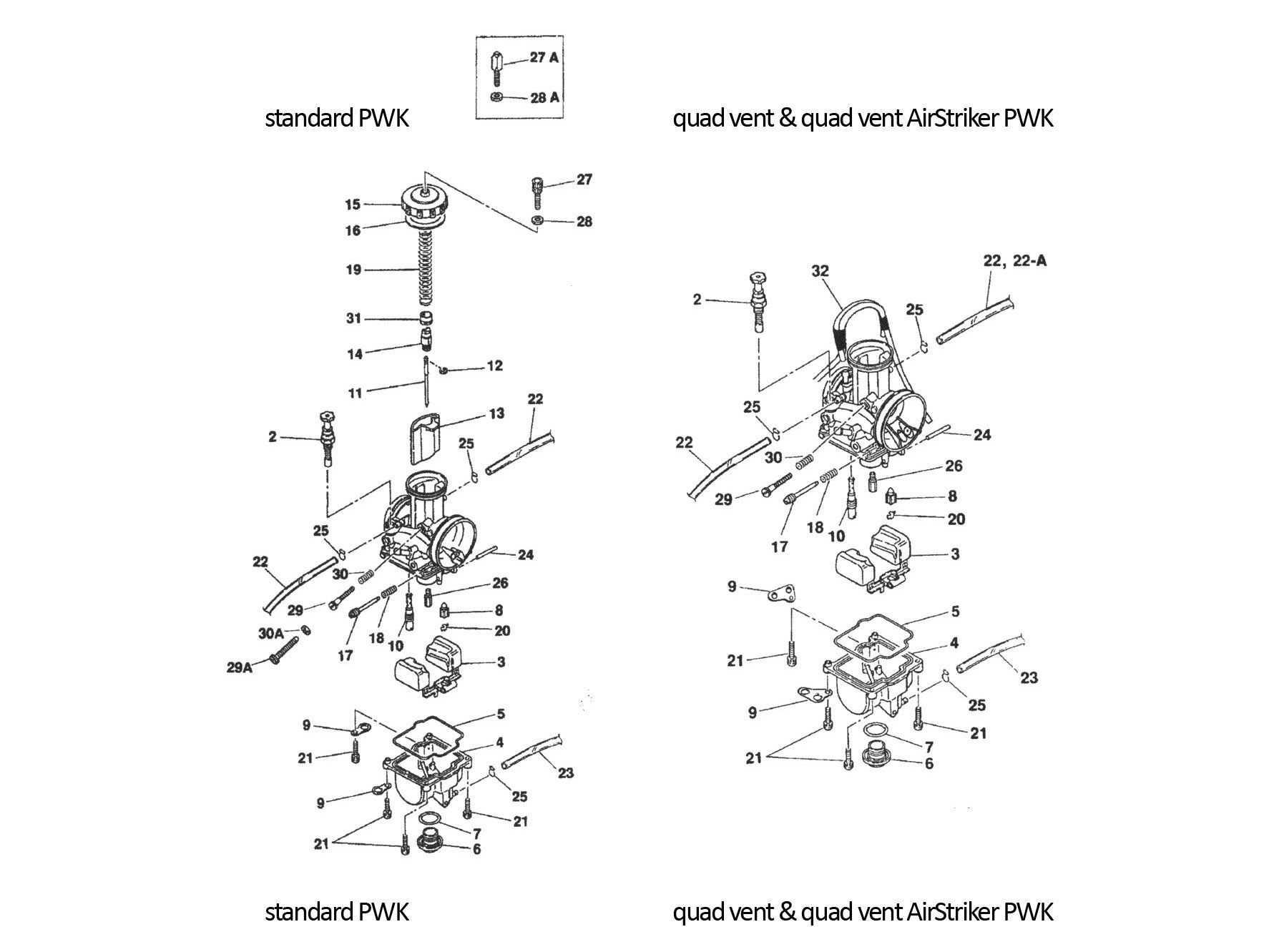 keihin pwk carburetor parts diagram